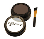 dark brown eyebrow powder with brush
