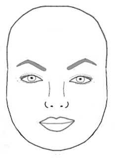 perfect eyebrows for the round faceshape