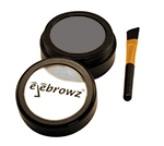 soft charcoal eyebrow powder with brush
