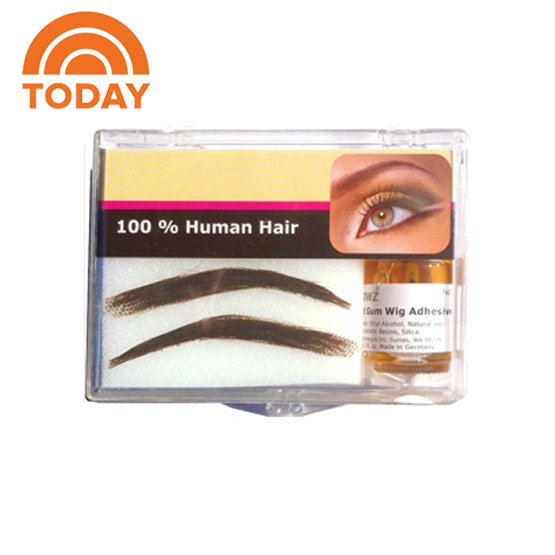 Human Hair Eyebrow Wigs In Three Styles